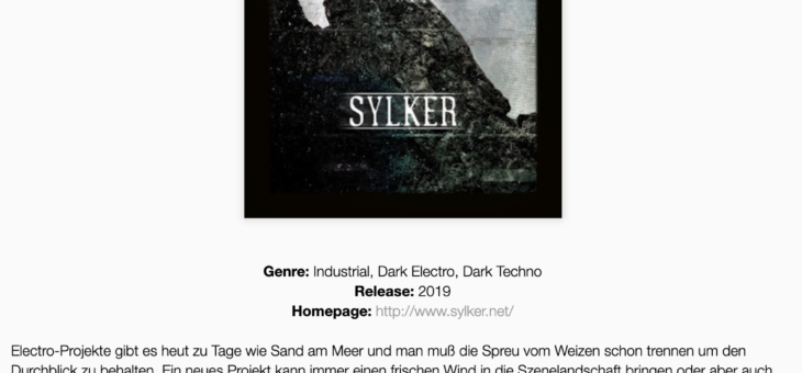 Sylker reviewed in Mensch-Maschinen-Music